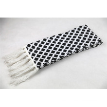 Inverno quente unisex diamante verificado franjas lenço de malha pesada (sk174)