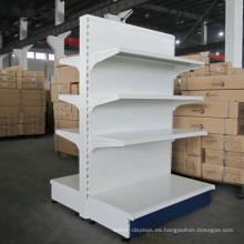 Tienda de abarrotes Estantería Estante de almacenamiento de paneles de acero Estantes de exhibición de productos