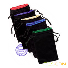 High quality Drawstring Lined Dice Handbags