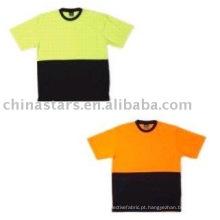 Alta visibilidade reflexiva segurança T shirt