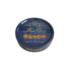 Round Cookie Tin Can Bascuit 2017 Nouveau design