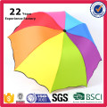 Promotional Rainbow Colorful Small Folding Umbrella with Logo Printing