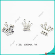 Metal Zinc Alloy Crown Charm (SPE)