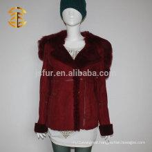 2015 Warm Winter Women's Double-faced Sheepskin Real Lamb Fur Jacket Style short Coat