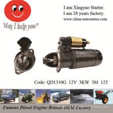 Motores para barcos usados encendedor diesel eléctrico para la venta (QD1310G)