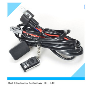 Prix usine de relais automatique sur off ensemble de harnais de fil de barre de lumière légère HID pour les véhicules à moteur