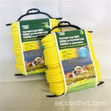 6mm Yellow Twist PP-rep med lågt pris