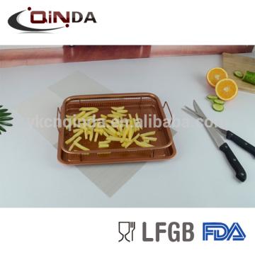 Friteuse de friteuse d'air de pan d'air de couleur de cuivre frit la friteuse