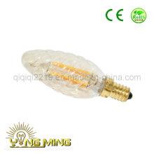 O ouro colorido do parafuso de 3.5W C35 coloriu o bulbo do filamento do diodo emissor de luz da luz do trabalho da loja E14