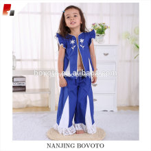 Salwar royal blue girls coton décontracté ensembles de vêtements