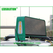 LED Taxi Top Displays para publicidad en video