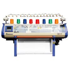 Único sistema de máquina de tricô do jacquard, 52 polegadas tricotando largura suéter de tricô cama plana, máquina de tricô a máquina