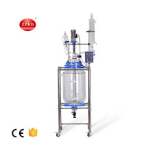 Chemical teflon jacketed glass reactor machine