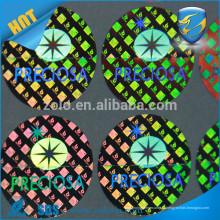 Holograma de etiqueta auto-adesiva impressa personalizada, adesivo a laser impermeável para etiqueta holográfica com alta qualidade