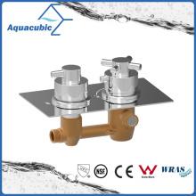 Misturador de torneira termostático de bronze e parede embutida dissimulada Duas funções