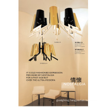 New Mode Black and Gold Lampshade Pendant Lamp