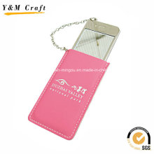 Mobile Phone Design Leather Small Silver Mirrors Customize Ym1154