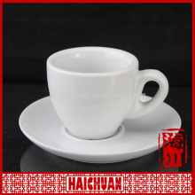 China wholesale elegant design coffee cup and saucer set with silver rim