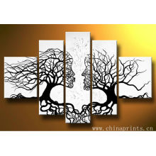 Abstract 5 pieces Kiss Handmade Oil Painting