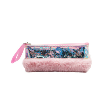 GLITTER PLUSH PENCIL CASE -0