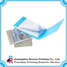 tampa dura da almofada de nota pegajosa com o fabricante da porcelana da impressão do logotipo
