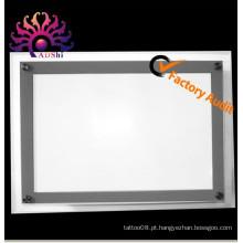 A venda quente super slim cristal LED flash tatuagem caixa de iluminação