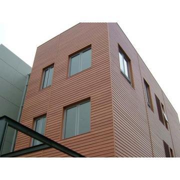 Composto plástico de madeira material da casa exterior móvel-- Painel de parede de WPC