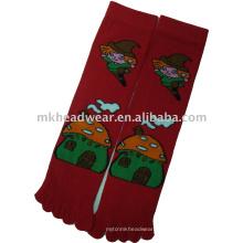 Женская жаккардовая трикотажная носка с пятью носками