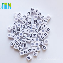 top quality food grade silicone beads acrylic alphabet cube beads