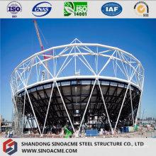 Steel Space Frame Stadium Arc Shape