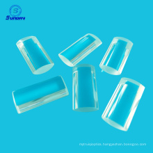 Optical quartz cylinder lenses, square shape round shape