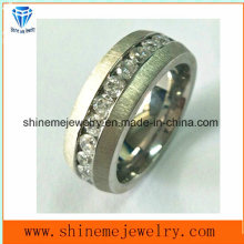 Shine Me Hot Selling Stainless Steel Titanium Ring with Stone