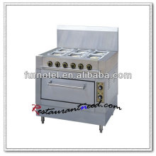 K066 Com fogão elétrico a gás de 6 queimadores de forno elétrico