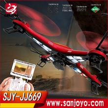 Meilleur de supprimer le contrôle Drone avec 2MP caméra 3D LED lumière UAV aéronef RC avion jouet SJY-JJRC-JJ669