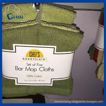 Pure Cotton Bar Mop Cloths Towel (QHS88921)
