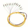 Cabo de remendo da fibra óptica da fibra do núcleo da alta velocidade 12 / fibra óptica, fio de remendo da fibra do outdoor / cabo do grupo