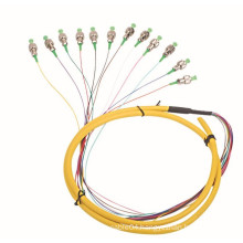 high speed 12 core fiber pigtail /optical fiber patch cord, outdoor fiber patch cord/bunch cable