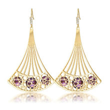 Party long skirt shaped drop earring