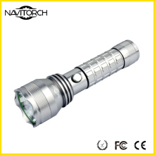Twice Run Time 26650 Battery Rechargeable Aluminum LED Flashlight (NK-2662)