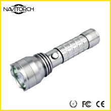 Black Long Run Time Прочный перезаряжаемый светодиодный фонарик (NK-2662)