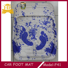 Footprint Fur Material Car Carpet Mat