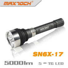 Maxtoch SN6X-17 5 * linterna de LED Cree T6 5000LM aluminio