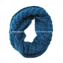 Lady Fashion Acrylic Cashmere Knitted Infinity Scarf