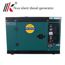 Générateur diesel silencieux de 7kva avec le prix d'ATS, diesel silencieux de 7kw à vendre, petit diesel silencieux