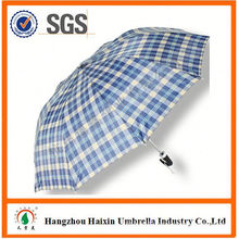 Cheap Prices!! Factory Supply 2 fold big umbrella with Crooked Handle