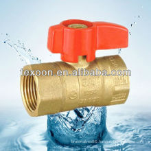 brass gas ball valves with standard port red butterfly handle