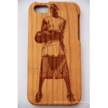 Laser Basket Ball Star Funda móvil de madera