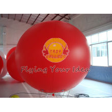 Large Red Inflatable Advertising Balloons With Uv Protected Printing For Anniversary Event