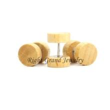 Cuerpo de madera de vendedor superior variedad joyería 10mm tapones personalizados falsos