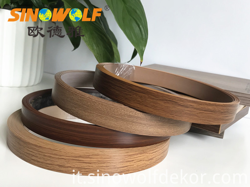 Abs Pvc Acrylic Woodgrain Edge Banding Strip